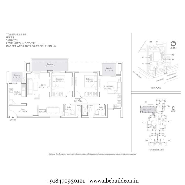 4. Tata La Vida Floor Plan 2 BHK – 1579 Sq. Ft.