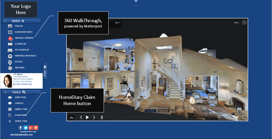 Real estate virtual tours interactive floor plans html for Floor plan virtual tour
