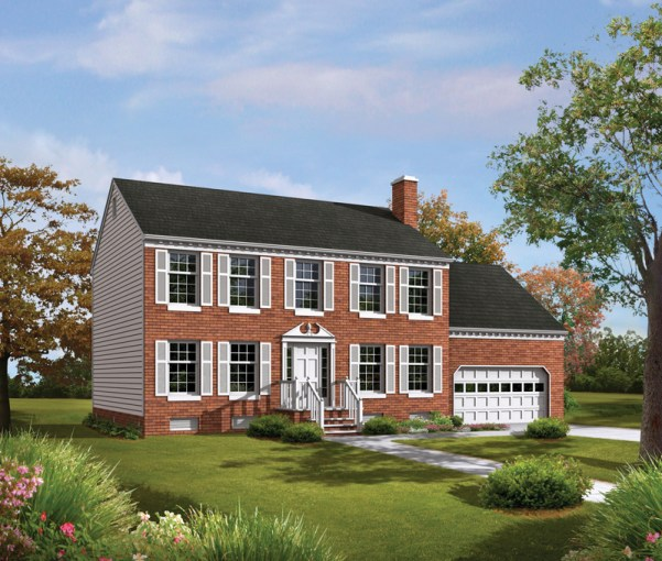 Tidewater Colonial Home Plan 001D 0009   House Plans and More Tidewater Colonial Home