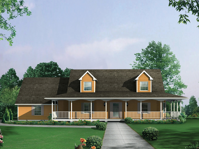 Country Ranch Farmhouse Plan 001D-0061