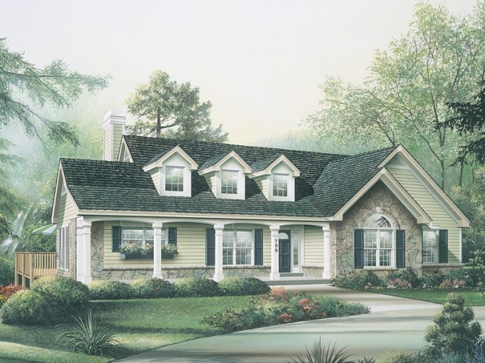 Maple Hill Country Ranch Home Plan 007D 0085   House Plans and More Ranch Home Has Country Elegance
