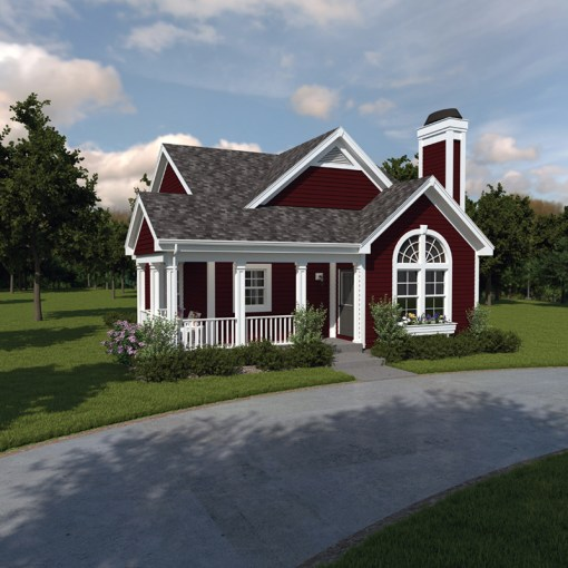 Springdale Country Cabin Home Plan 007D 0105   House Plans and More Springdale Country Cabin Home  HOUSE PLAN