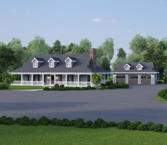 Shadyview Country Ranch Home Plan 007D 0124   House Plans and More Shadyview Country Ranch Home