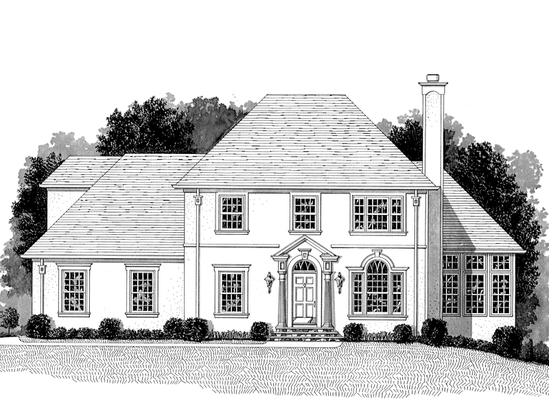 Twin Lakes Country French Home Plan 013D-0093