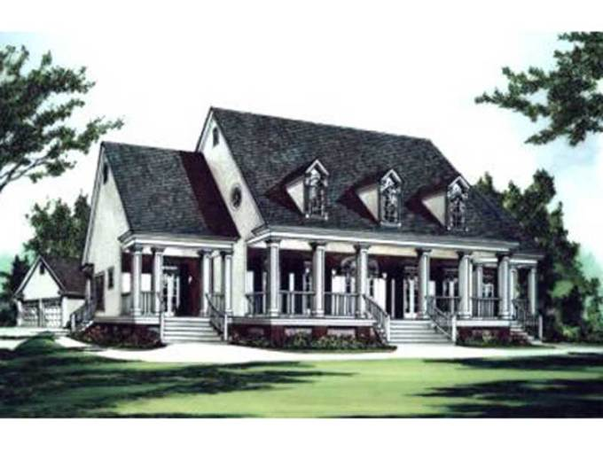 Green Hills Plantation Home Plan 024D 0623   House Plans and More Colonial Style Incorporates Well With Southern Plantation Design