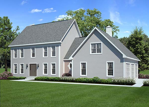 Pixley Classic Colonial Home Plan 038D 0746   House Plans and More Classic Colonial Two Story