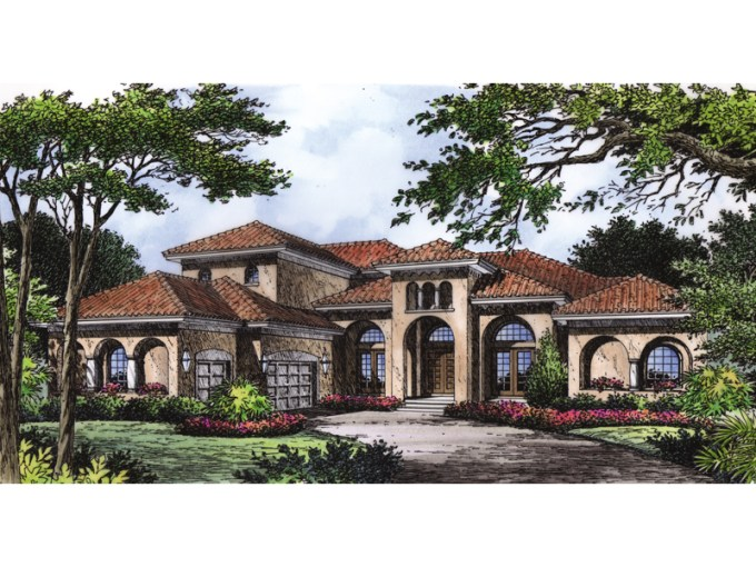Ariana Manor Mediterranean Home Plan 047D 0063   House Plans and More Mediterranean Style Home