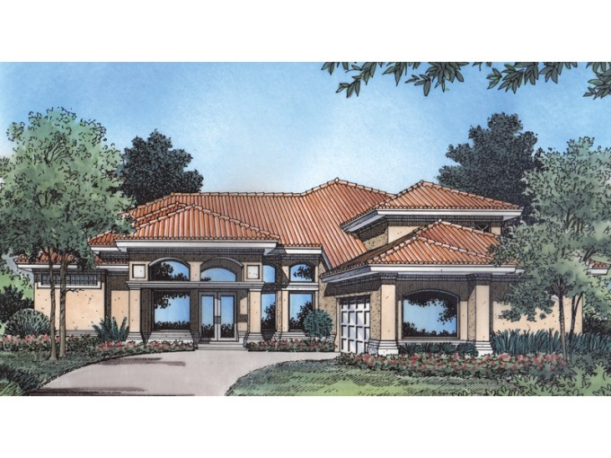 San Marcos Adobe Home Plan 047D 0158   House Plans and More Contemporary Styled Adobe Home Design
