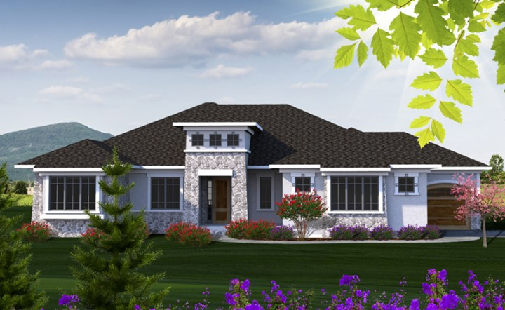 Alamo Heights Prairie Home Plan 051D 0814   House Plans and More Beach   Coastal House Plan Front of Home   051D 0814   House Plans and