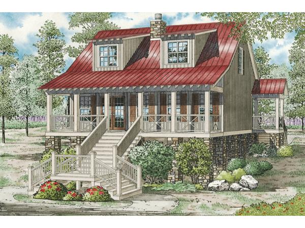 Leslie Pier Raised Cottage Home Plan 055D0816 House
