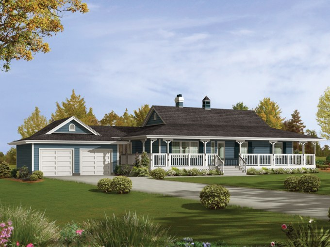 Caldean Country Ranch Home Plan 062D 0041   House Plans and More Caldean Country Ranch Home