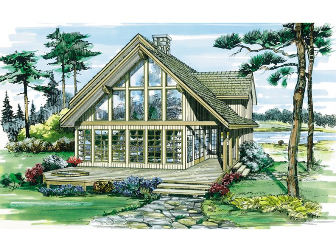 House Plans A Frame  a frame house plans the house plan shop     oakleigh pass a frame cabin home plan 062d 0052 house plans and more