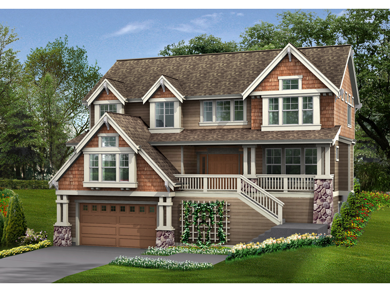 Garden Path Craftsman Home Plan 071D 0129 House Plans And More