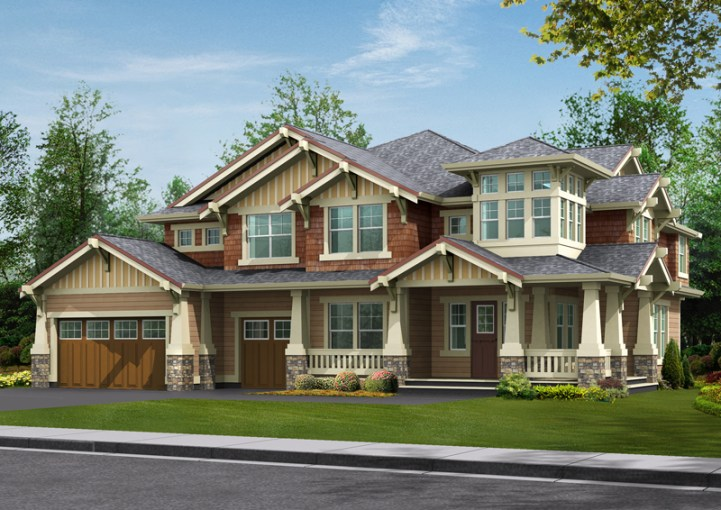 Longhorn Creek Rustic Home Plan 071S 0012   House Plans and More Rustic Wood Craftsman Style Home Design