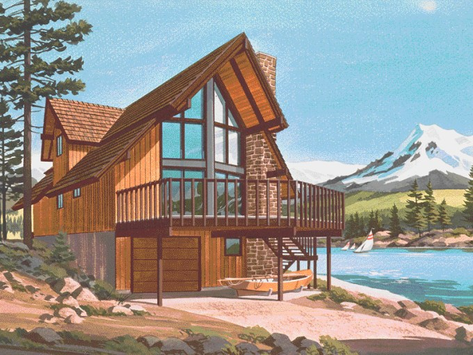 Pine Peak Rustic A Frame Home Plan 072D 0759   House Plans and More Pine Peak Rustic A Frame Home  HOUSE PLAN