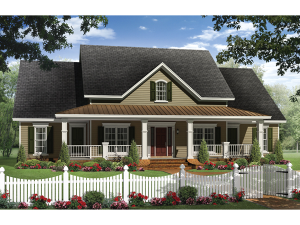 Boschert Country Ranch Home Plan 077D-0191