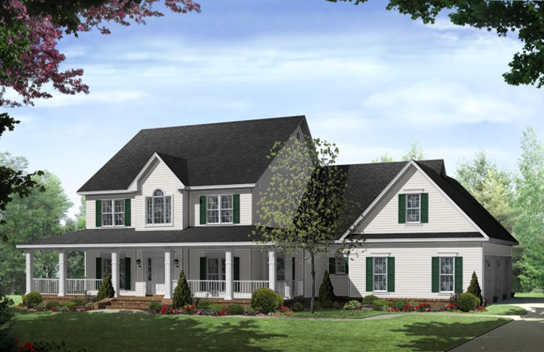 Stonewood Lane Country Home Plan 077D 0283   House Plans and More Traditional House Plan Front of Home   077D 0283   House Plans and More