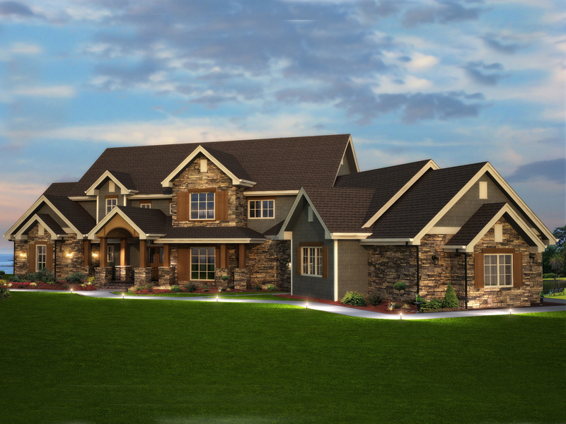 Elk Trail Rustic Luxury Home Plan 101S 0013   House Plans and More Elk Trail Rustic Luxury Home
