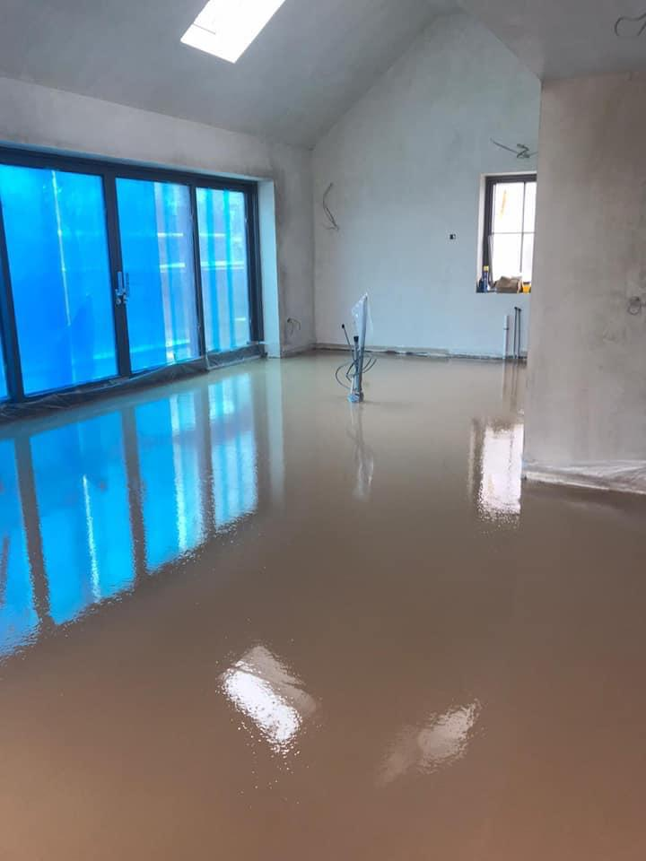 On site completion of Residential Floor screed