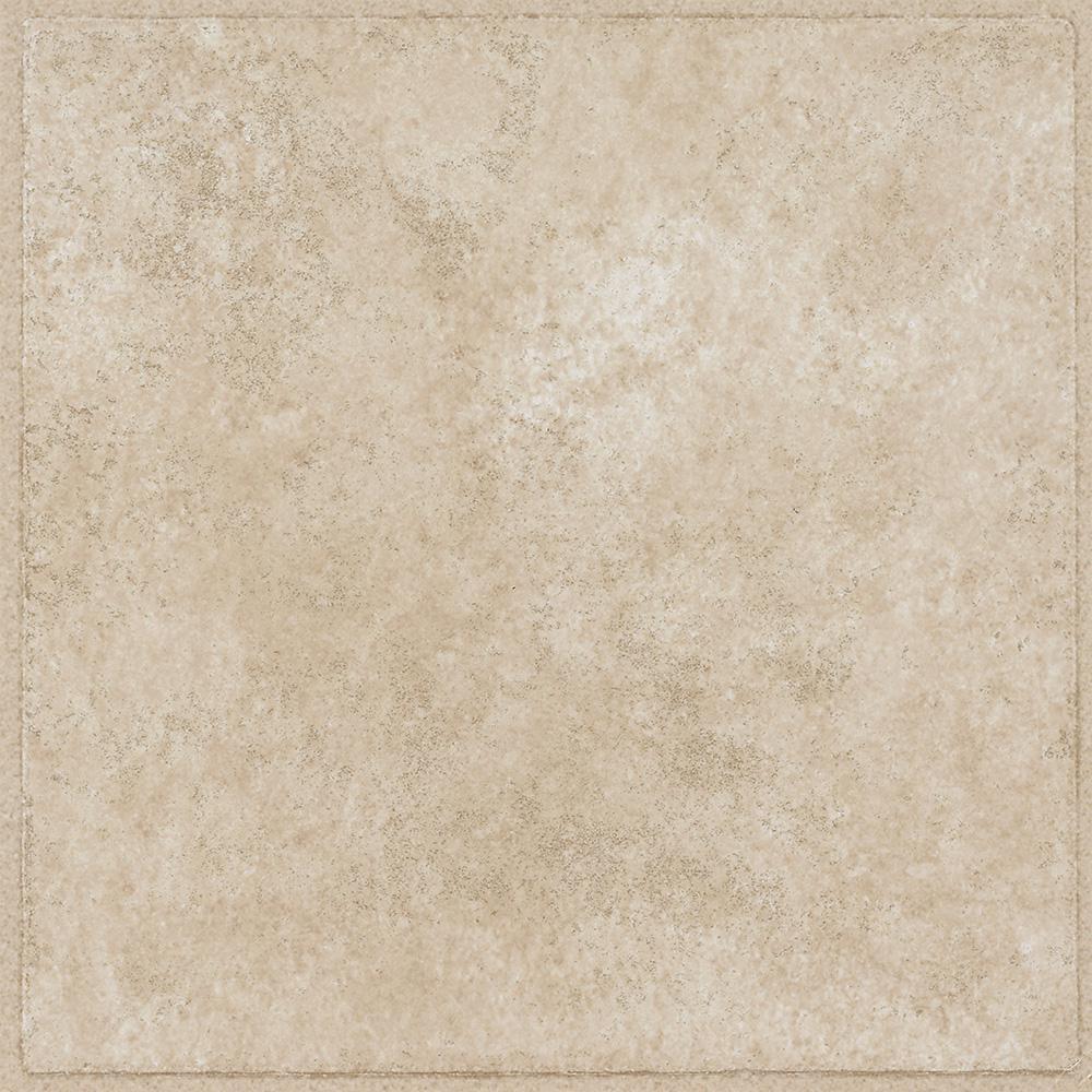 armstrong overlook ii sandstone 12 in x 12 in residential peel and stick vinyl tile flooring