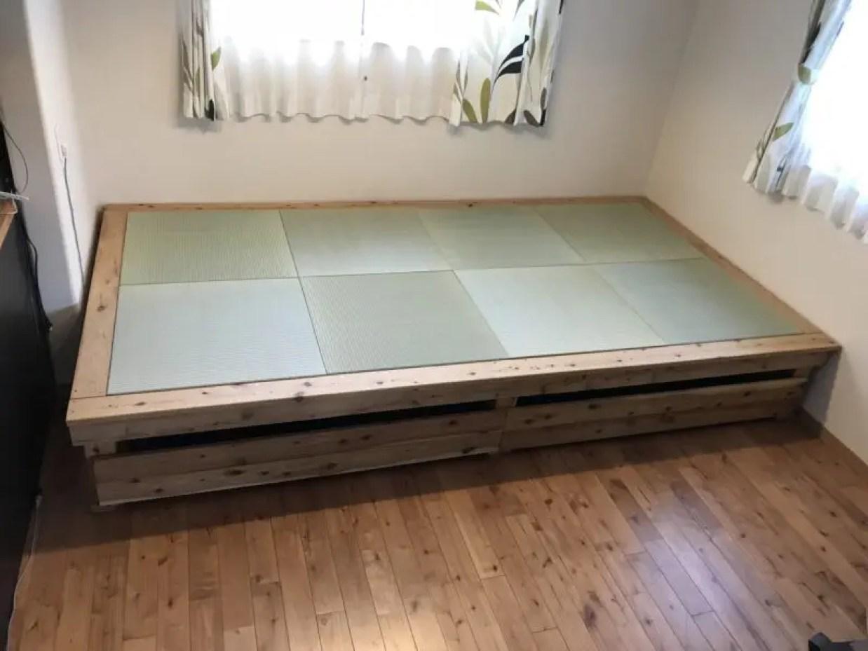 自作の小上がり畳