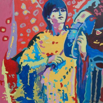 "©Flora Doehler The Heartbeat Acrylic on canvas 24"" x 24"" $850 (Teichert Gallery, Halifax)"
