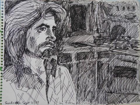 Handsome Larry at cottage. 1977. ©Flora Doehler