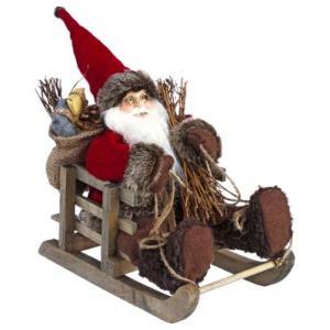 Père Noël sur luge 30 cm Bathilda