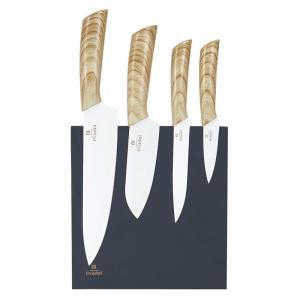 Ensemble de couteaux x4 sur support aimanté