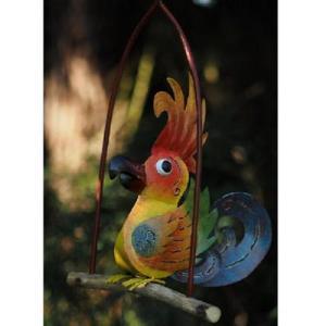 Statue Oiseau Rigolo en métal à accrocher- Albert 45cm