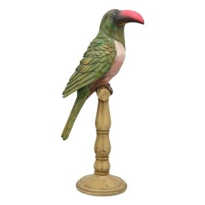 Statue Perroquet Résine Lionel H42