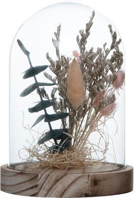 Cloche Fleurs Séchées Rose Selma H17 2