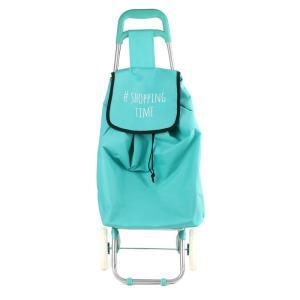 Chariot Shopping Bleu Shopping Time