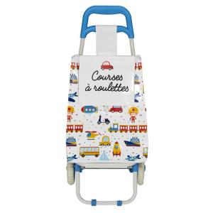 Chariot Shopping Enfant Courses Roulettes