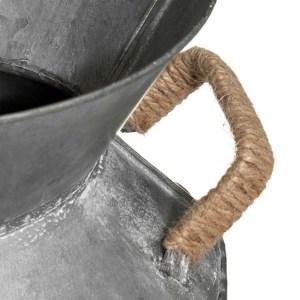 Pot à lait déco métal zinc – Aldina H37