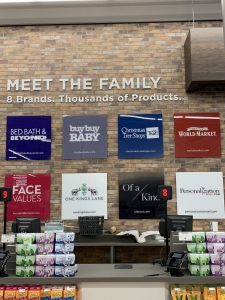 Front of Store Signs in Bed Bath & Beyond