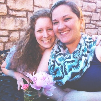 This is Erin and I at Starbucks. We have been meeting together for encouragement, fellowship, and prayer for several years now. This particular day was the day she told me her plans to adopt. I love her and I love Hazel. (the flowers were for her from my backyard)
