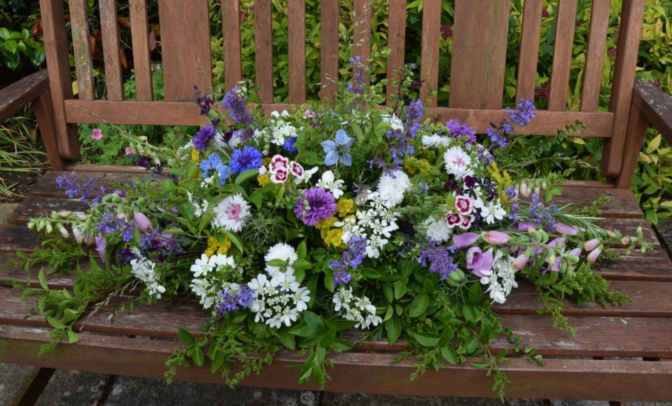 Double ended casket spray Frome Funeral flowers