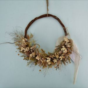Winter Garden Dried Flower Wreath Floral Acre