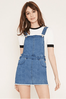 Denim Overall Dress - Forever 21 $30