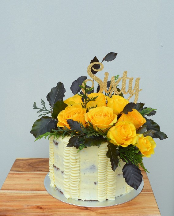 Flowers for Cakes yellow rose Cake Topper