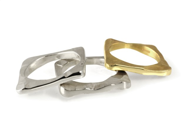 Shard Gold and Silver Stacking Rings Maria Dorai-Raj interview with floralesque