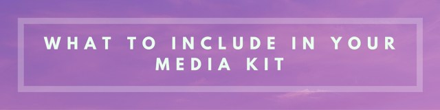 Floralesque How to create a Blog Media Kit 5