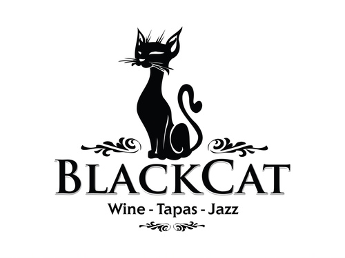 The Black Cat Logo Floralesque