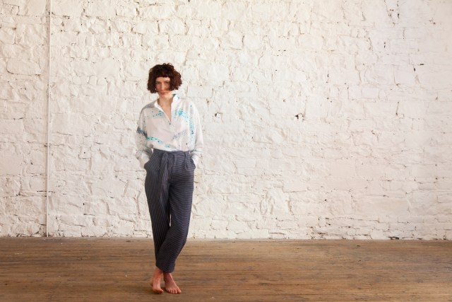 Botany Trousers and Ida Shirt We are Islanders Interview Floralesque 2