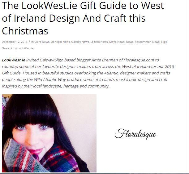 LookWest.ie Christmas Gift Guide Feature