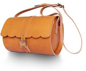 Lovern Leather Goods Tan Scallop Bag