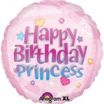 18 Inch Happy Birthday Princess Foil