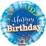 18 Inch Shining Star Bright Blue Birthday Foil