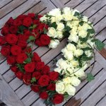 Red-and-White-Heart-Funeral-Tribute
